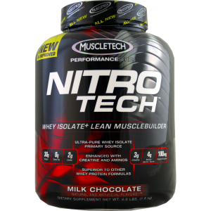 proteina nitro tech 4 lbs chocolate suplementos chile