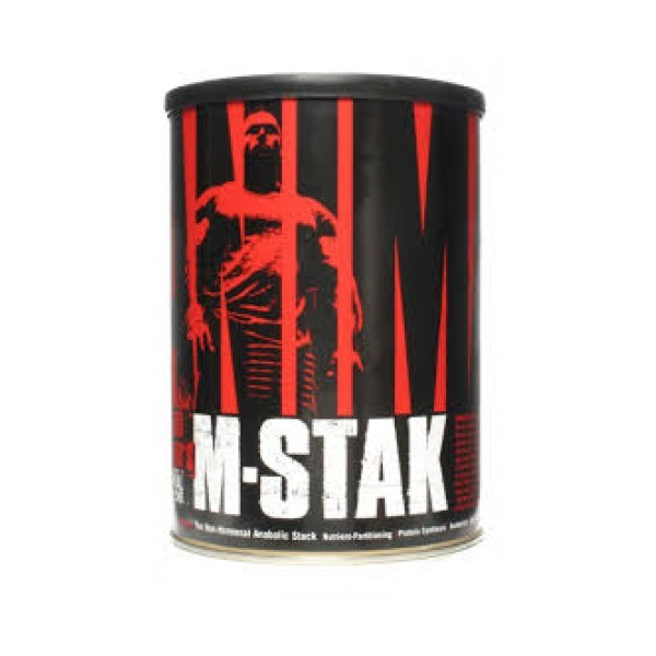 ANIMAL M-STAK - UNIVERSAL NUTRITION - 21 packs ANIMAL M-STAK de Universal Nutrition es un suplemento de nutrición deportiva creado para potenciar la producción de la hormona del crecimiento y de la testosterona de forma totalmente natural porque los resultados se obtienen manteniendo el equilibrio del cuerpo.