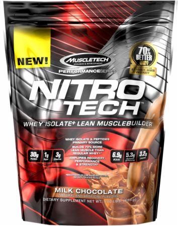 MuscleTech Nitro-Tech Un producto MuscleTech Ultra Pure Whey Protein Isolate Enhanced w / Creatine & Aminos! Whey Isolate & peptides primary source Amplifica la recuperación, el rendimiento y la fuerza * 30 g de proteína por porción ¡Deliciosos sabores y fácil mezclabilidad!